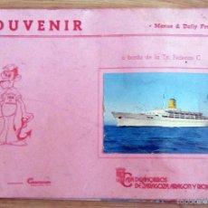 Líneas de navegación: SOUVENIR CRUCERO T/N FEDERICO CAJA DE AHORROS DE ZARAGOZA 1980 VIAJES MARSANS. Lote 58714960