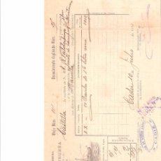 Líneas de navegación: DOCUMENTO. CONOCIMIENTO. EMBARQUE VAPORES VINUESA. VAPOR CASTILLA. CADIZ 1911.. Lote 59199480