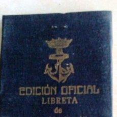 Líneas de navegación: LIBRETA DE INSCRIPCIÓN MARÍTIMA DEL 5 DE MARZO DE 1948. Lote 60609383