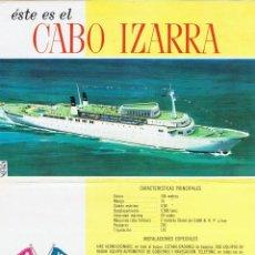 Líneas de navegación: PRIMER FOLLETO DEL CABO IZARRA. NAVIERA DE CRUCEROS.. Lote 61351487