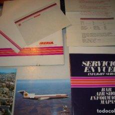 Líneas de navegación: IBERIA - ANTIGUOS DOCUMENTOS Y POSTALES. Lote 232938250