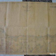 Líneas de navegación: CARTA NÁUTICA 126 A - DESDE LA ESTACA DE BARES HASTA EL CABO PEÑAS , 1925 ,CORUÑA , ASTURIAS. Lote 61602808