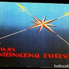 Líneas de navegación: VIAJES INTERNACIONAL EXPRESO (1959) - CARNET DE BONOS- ITINERARIO DE VIAJE - PUBLICIDAD- AGENCIA. Lote 62098292