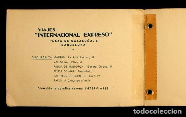 Líneas de navegación: VIAJES INTERNACIONAL EXPRESO (1959) - CARNET DE BONOS- ITINERARIO DE VIAJE - PUBLICIDAD- Agencia - Foto 3 - 62098292