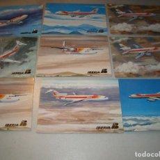 Lote de antiguas postales de IBERIA