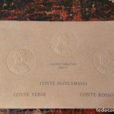 Líneas de navegación: ALBUM DEL LLOYD SABAUDO GENOVA, CONTENIENDO 24 CP BARCO CONTE BIANCAMANO, VERDE Y ROSSO. 1926.. Lote 64663939
