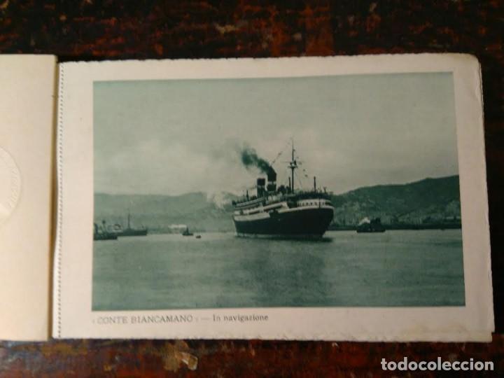Líneas de navegación: Album del LLoyd Sabaudo Genova, conteniendo 24 CP barco Conte Biancamano, Verde y Rosso. 1926. - Foto 3 - 64663939