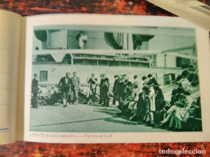 Líneas de navegación: Album del LLoyd Sabaudo Genova, conteniendo 24 CP barco Conte Biancamano, Verde y Rosso. 1926. - Foto 4 - 64663939
