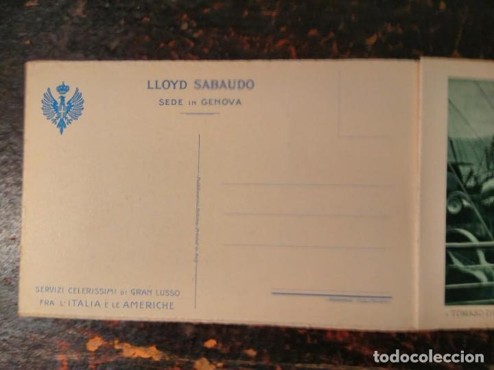 Líneas de navegación: Album del LLoyd Sabaudo Genova, conteniendo 24 CP barco Conte Biancamano, Verde y Rosso. 1926. - Foto 5 - 64663939