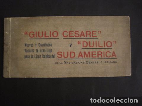 NAVIGAZIONE GENERALE ITALIANA -GIULIO CESARE Y DUILIO SUD AMERICA - CATALOGO - VER FOTOS-(V-7095) (Coleccionismo - Líneas de Navegación)