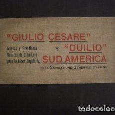 Líneas de navegación: NAVIGAZIONE GENERALE ITALIANA -GIULIO CESARE Y DUILIO SUD AMERICA - CATALOGO - VER FOTOS-(V-7095). Lote 64716459