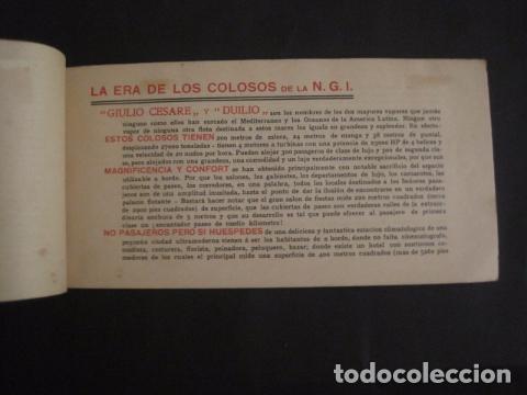 Líneas de navegación: NAVIGAZIONE GENERALE ITALIANA -GIULIO CESARE Y DUILIO SUD AMERICA - CATALOGO - VER FOTOS-(V-7095) - Foto 4 - 64716459