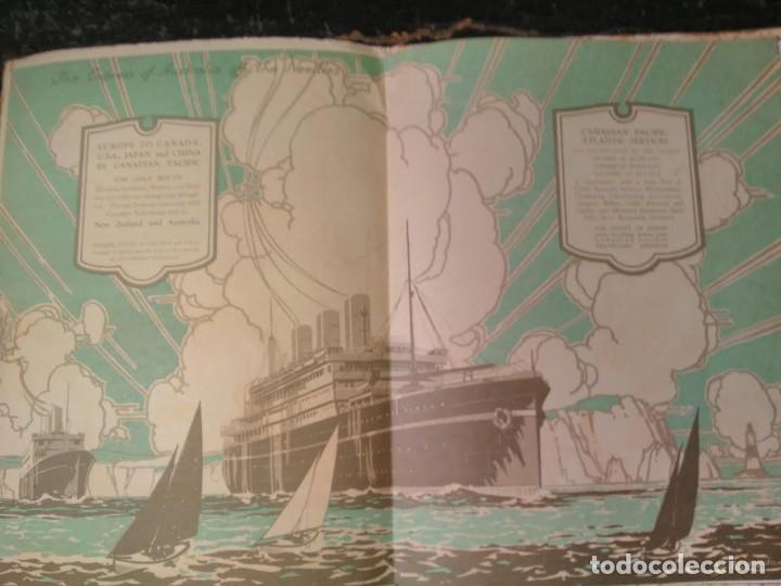 Líneas de navegación: Canadian Pacific. The Empress of Australia Europe to Canada, USA, Japan and China. Folleto ca 1925 - Foto 2 - 64768987