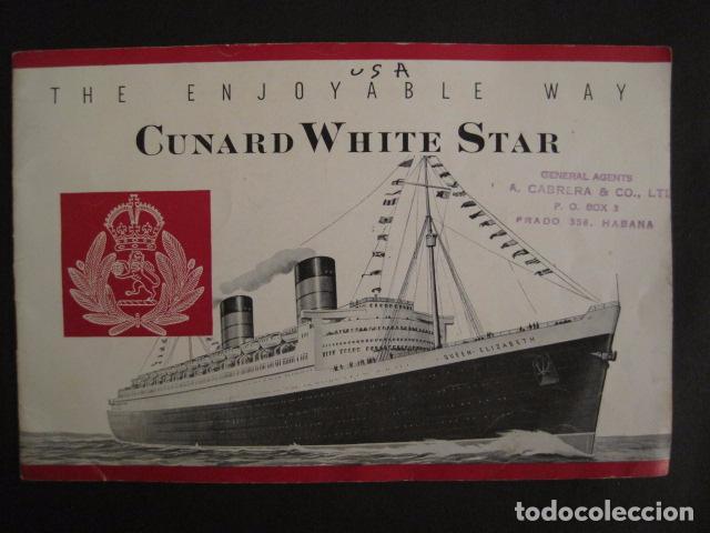 PROSPECTO CUNARD WHITE STAR - VER FOTOS -(V-7418) (Coleccionismo - Líneas de Navegación)