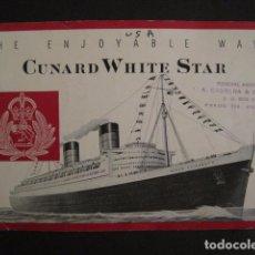 Líneas de navegación: PROSPECTO CUNARD WHITE STAR - VER FOTOS -(V-7418). Lote 66249878