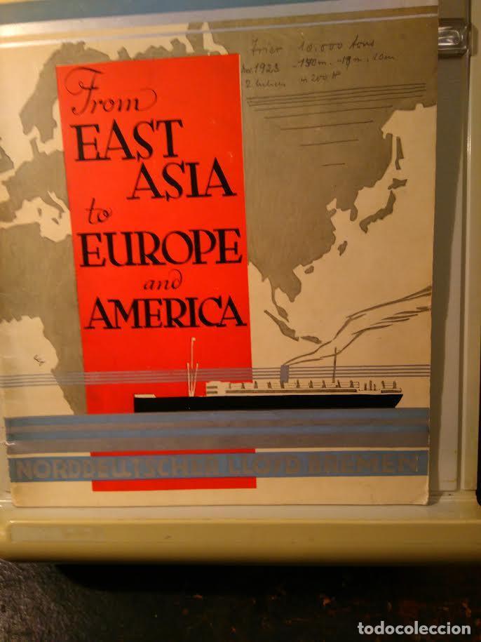 NORDDEUTSCHER LLOYD BREMEN. FROM EAST-ASIA TO EUROPE AND AMERIKA. BREMEN, SF (C1923) (Coleccionismo - Líneas de Navegación)
