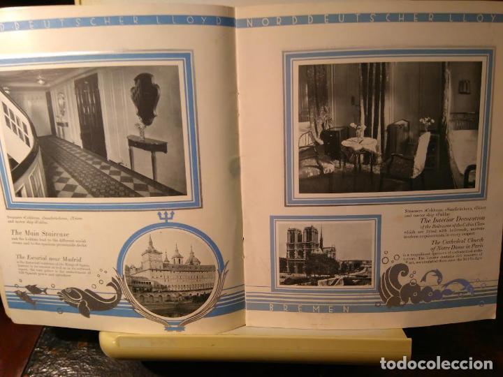 Líneas de navegación: Norddeutscher LLoyd Bremen. From East-Asia to Europe and Amerika. Bremen, sf (c1923) - Foto 2 - 68428817