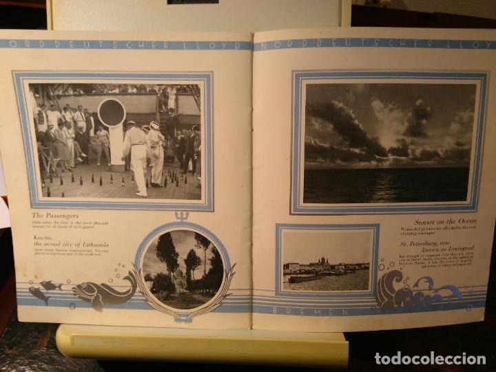 Líneas de navegación: Norddeutscher LLoyd Bremen. From East-Asia to Europe and Amerika. Bremen, sf (c1923) - Foto 3 - 68428817