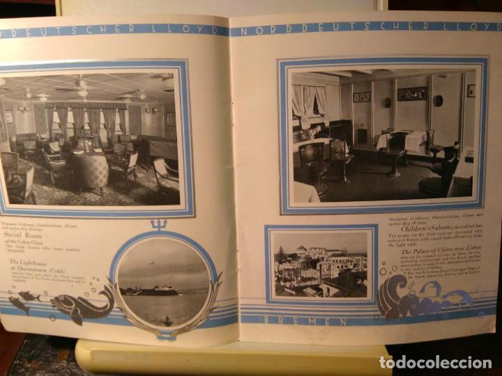 Líneas de navegación: Norddeutscher LLoyd Bremen. From East-Asia to Europe and Amerika. Bremen, sf (c1923) - Foto 4 - 68428817