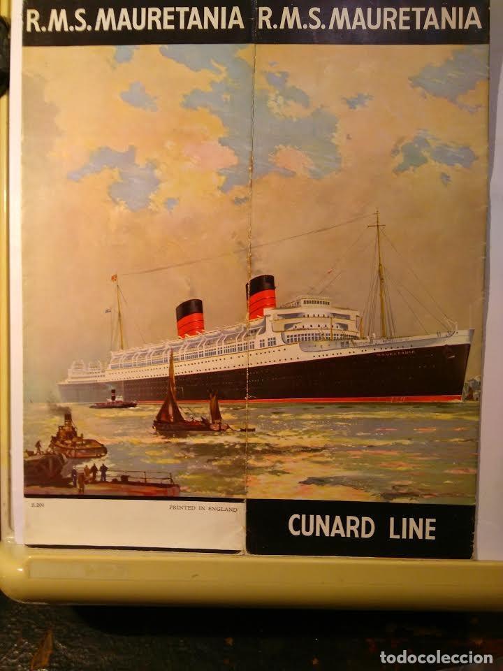 CUNARD. ROYAL MAIL STEAMER MAURETANIA (35.667 TRB) CA 1930 (Coleccionismo - Líneas de Navegación)