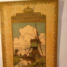 Líneas de navegación: CONDITIONS GENERALES DE PASSAGE POUR PASSAGERS DE CABINE A L'AMERIQUE DU SUD. LLOYD HOLLANDAIS. 1922. Lote 68565397