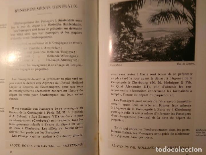 Líneas de navegación: Conditions Generales de passage pour passagers de cabine a l'Amerique du Sud. LLoyd Hollandais. 1922 - Foto 3 - 68565397
