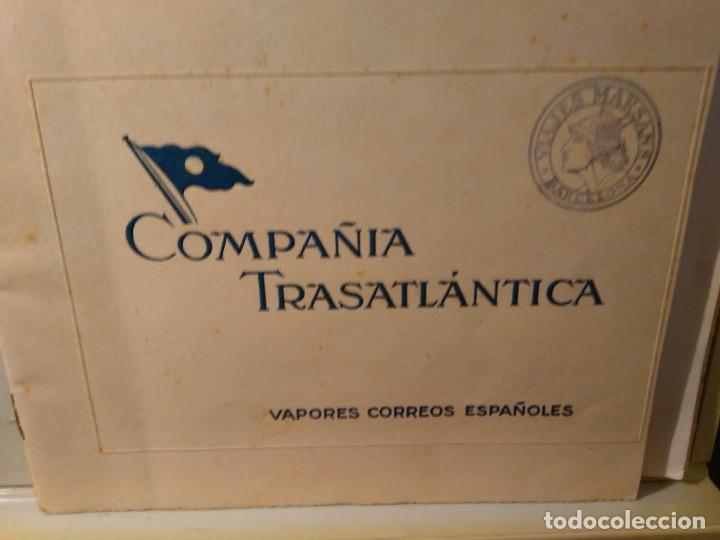 Líneas de navegación: Compañia Trasatlantica. Vapores Correos Españoles Reina Victoria Eugenia e Infanta Isabel de Borbón, - Foto 3 - 68573313