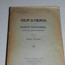 Líneas de navegación: (MF2) LIBRO - PUIG PUJADAS - VIDA D'HEROI NARCIS MONTURIOL INVENTOR DE LA NAVEGACIO SUBMARINA 1918. Lote 69619405
