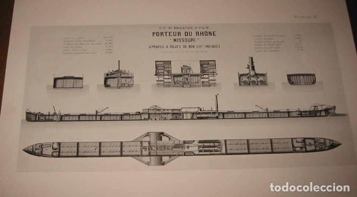 Líneas de navegación: Notice sur Compagnie Generale Navigation Havre-Lyon-Paris-Marseille 1914 Compañia Navegación Fluvial - Foto 3 - 70461293