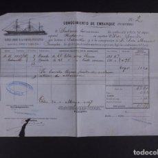 Líneas de navegación: VAPORES CORREOS DE LA COMPAÑÍA TRASATLÁNTICA 1887. Lote 74673719