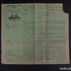 Líneas de navegación: CIA DAMPFSCHIFFFAHRTS-GESELLSCHAFT NEPTUN 1910. Lote 74676523