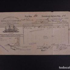 Líneas de navegación: CIA DE NAVEGACIÓN ESPALIU Y COMPAÑÍA 1892. Lote 74676819