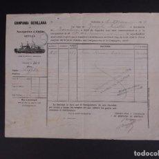 Líneas de navegación: COMPAÑÍA SEVILLANA 1904. Lote 74676947
