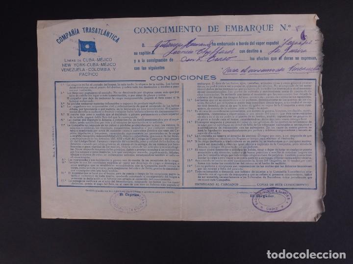 COMPAÑÍA TRASATLÁNTICA 1927 (Coleccionismo - Líneas de Navegación)