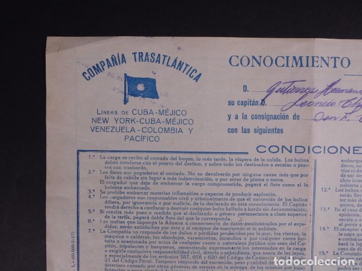 Líneas de navegación: COMPAÑÍA TRASATLÁNTICA 1927 - Foto 2 - 74677035