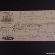 Líneas de navegación: YBARRA Y COMPAÑÍA, SEVILLA 1896. Lote 74680695
