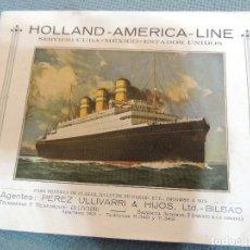 Líneas de navegación: FOLLETO12 HOJAS HOLLAND-AMERICA LINE 1930. Lote 76635679