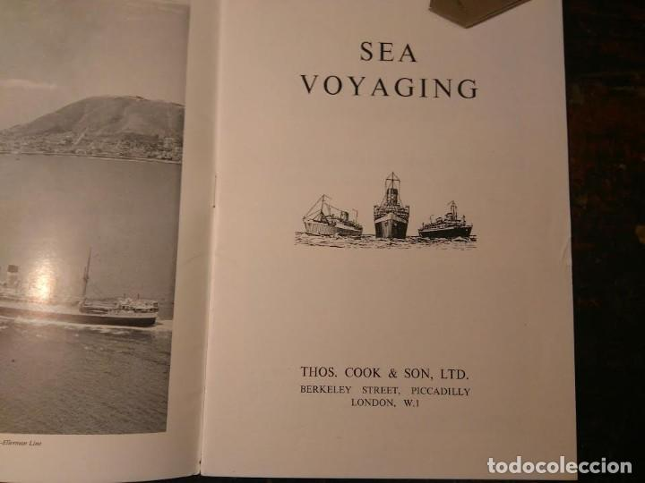 Líneas de navegación: Cook's World Travel Service. Sea Voyaging 1950-1 Barco Buque - Foto 2 - 76686847