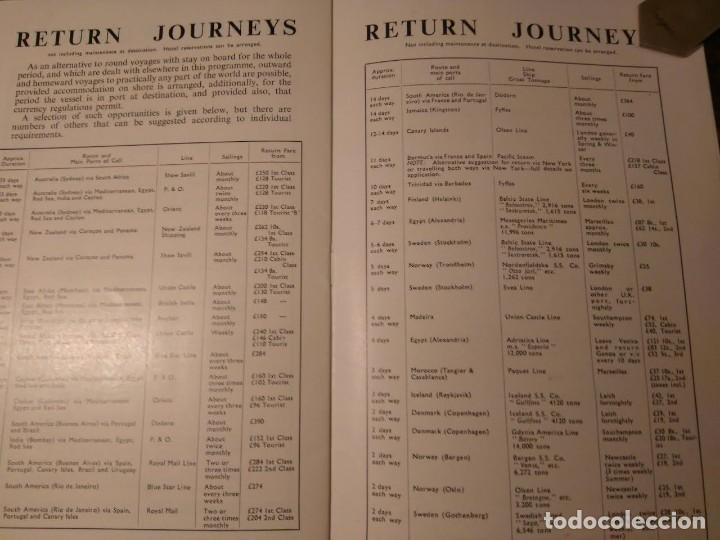 Líneas de navegación: Cook's World Travel Service. Sea Voyaging 1950-1 Barco Buque - Foto 4 - 76686847