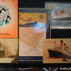 Líneas de navegación: LOTE ORIGINAL CUNARD LINE, 1921-1949. 5 ARTÍCULOS. AQUITANIA MAJESTIC QUEEN ELIZABETH. Lote 76864907
