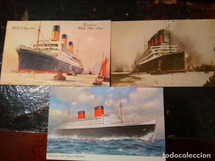 Líneas de navegación: Lote original Cunard Line, 1921-1949. 5 artículos. AQUITANIA MAJESTIC QUEEN ELIZABETH - Foto 3 - 76864907
