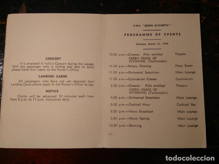 Líneas de navegación: Lote original Cunard Line, 1921-1949. 5 artículos. AQUITANIA MAJESTIC QUEEN ELIZABETH - Foto 4 - 76864907
