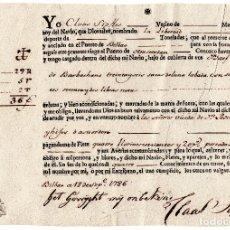 Líneas de navegación: CONOCIMIENTO DE EMBARQUE - BILBAO - AMSTERDAN - LANA LAVADA Y 6772 LIBRAS NETAS - FECHADO EN 1786. Lote 77539345