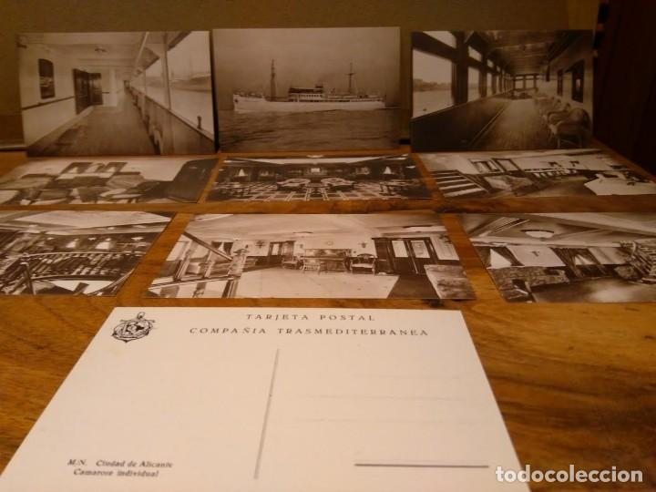Líneas de navegación: Ciudad de Alicante Compañía Trasmediterranea carpeta 12 postales Ca 1931-50 Barco Buque - Foto 2 - 79016165