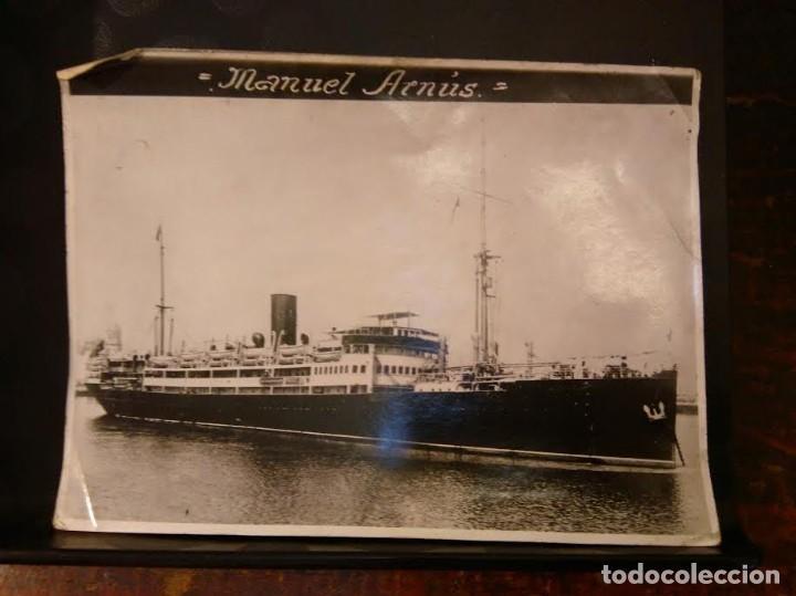COMPAÑIA TRASATLANTICA FOTOGRAFÍA TRASATLANTICO MANUEL ARNÚS. 1923-1938 BARCO BUQUE (Coleccionismo - Líneas de Navegación)
