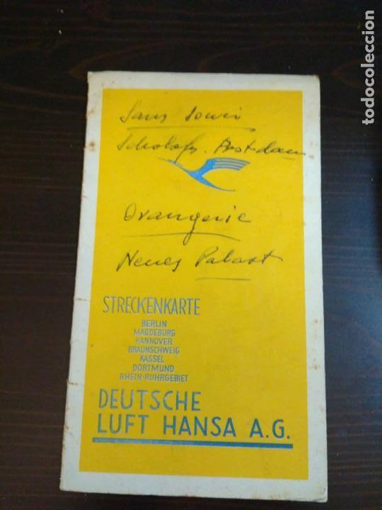 STRECKENKARTE DEUTSCHE LUFTHANSA A.G (LUFT HANSA) CIRCA 1930 (Coleccionismo - Líneas de Navegación)