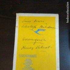 Líneas de navegación: STRECKENKARTE DEUTSCHE LUFTHANSA A.G (LUFT HANSA) CIRCA 1930. Lote 82899860