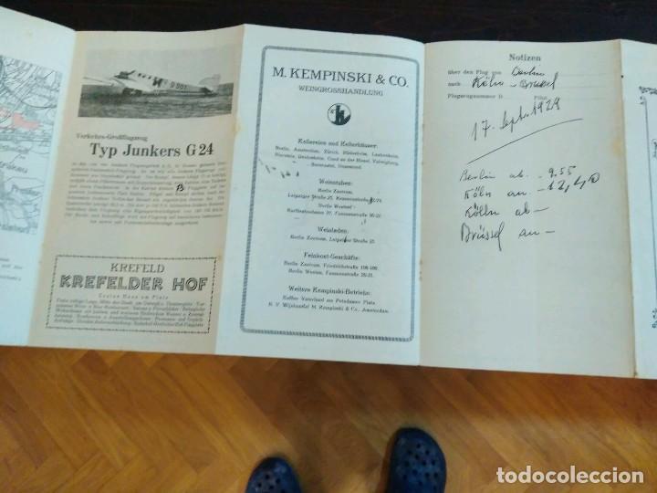Líneas de navegación: STRECKENKARTE DEUTSCHE LUFTHANSA A.G (LUFT HANSA) CIRCA 1930 - Foto 5 - 82899860