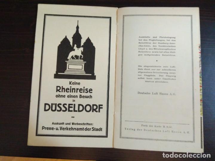 Líneas de navegación: STRECKENKARTE DEUTSCHE LUFTHANSA A.G (LUFT HANSA) CIRCA 1930 - Foto 11 - 82899860