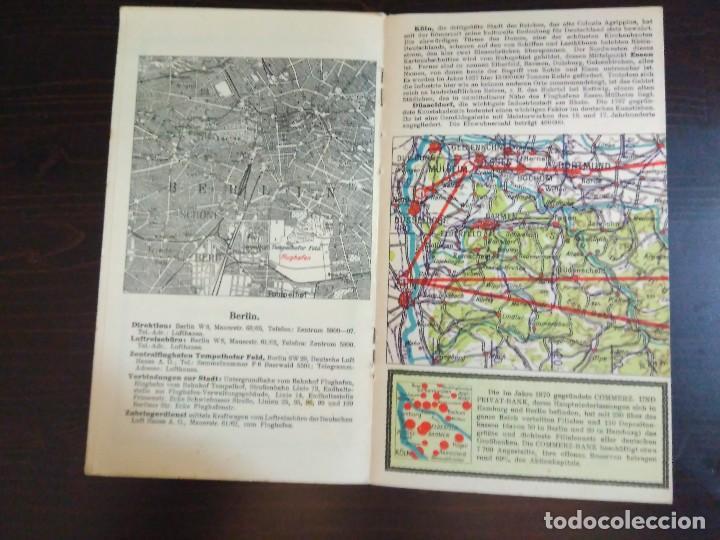 Líneas de navegación: STRECKENKARTE DEUTSCHE LUFTHANSA A.G (LUFT HANSA) CIRCA 1930 - Foto 12 - 82899860
